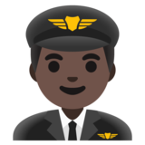 Man Pilot: Dark Skin Tone on Google Android 11.0 December 2020 Feature Drop