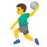 Man Playing Handball on Google Android 11.0 December 2020 Feature Drop