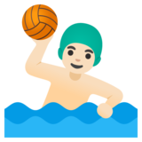 Man Playing Water Polo: Light Skin Tone on Google Android 11.0 December 2020 Feature Drop