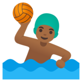 Man Playing Water Polo: Medium-Dark Skin Tone on Google Android 11.0 December 2020 Feature Drop