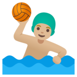Man Playing Water Polo: Medium-Light Skin Tone on Google Android 11.0 December 2020 Feature Drop