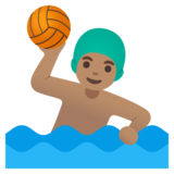 Man Playing Water Polo: Medium Skin Tone on Google Android 11.0 December 2020 Feature Drop