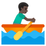 Man Rowing Boat: Dark Skin Tone on Google Android 11.0 December 2020 Feature Drop