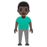 Man Standing: Dark Skin Tone on Google Android 11.0 December 2020 Feature Drop