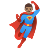 Man Superhero: Medium Skin Tone on Google Android 11.0 December 2020 Feature Drop