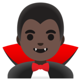 Man Vampire: Dark Skin Tone on Google Android 11.0 December 2020 Feature Drop