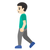 Man Walking: Light Skin Tone on Google Android 11.0 December 2020 Feature Drop