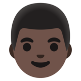 Man: Dark Skin Tone on Google Android 11.0 December 2020 Feature Drop