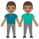Men Holding Hands: Medium Skin Tone on Google Android 11.0 December 2020 Feature Drop