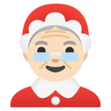 Mrs. Claus: Light Skin Tone on Google Android 11.0 December 2020 Feature Drop