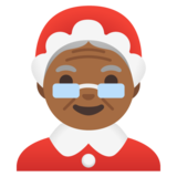 Mrs. Claus: Medium-Dark Skin Tone on Google Android 11.0 December 2020 Feature Drop