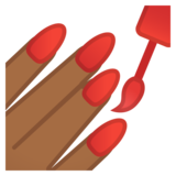 Nail Polish: Medium-Dark Skin Tone on Google Android 11.0 December 2020 Feature Drop