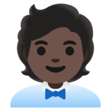 Office Worker: Dark Skin Tone on Google Android 11.0 December 2020 Feature Drop