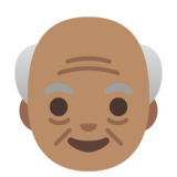Old Man: Medium Skin Tone on Google Android 11.0 December 2020 Feature Drop