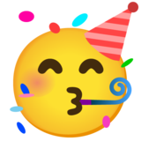 Partying Face on Google Android 11.0 December 2020 Feature Drop