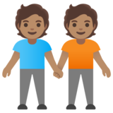 People Holding Hands: Medium Skin Tone on Google Android 11.0 December 2020 Feature Drop