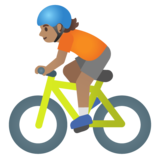 Person Biking: Medium Skin Tone on Google Android 11.0 December 2020 Feature Drop
