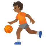 Person Bouncing Ball: Medium-Dark Skin Tone on Google Android 11.0 December 2020 Feature Drop
