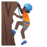 Person Climbing: Dark Skin Tone on Google Android 11.0 December 2020 Feature Drop