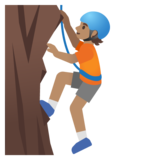 Person Climbing: Medium Skin Tone on Google Android 11.0 December 2020 Feature Drop