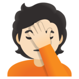 Person Facepalming: Light Skin Tone on Google Android 11.0 December 2020 Feature Drop