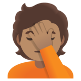 Person Facepalming: Medium Skin Tone on Google Android 11.0 December 2020 Feature Drop