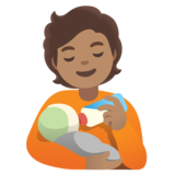 Person Feeding Baby: Medium Skin Tone on Google Android 11.0 December 2020 Feature Drop