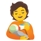 Person Feeding Baby on Google Android 11.0 December 2020 Feature Drop