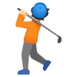 Person Golfing: Light Skin Tone on Google Android 11.0 December 2020 Feature Drop