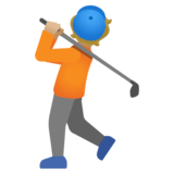 Person Golfing: Medium-Light Skin Tone on Google Android 11.0 December 2020 Feature Drop