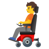 Person in Motorized Wheelchair on Google Android 11.0 December 2020 Feature Drop