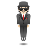Person in Suit Levitating: Light Skin Tone on Google Android 11.0 December 2020 Feature Drop