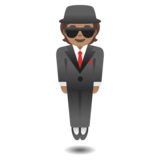 Person in Suit Levitating: Medium Skin Tone on Google Android 11.0 December 2020 Feature Drop