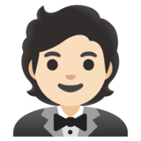 Person in Tuxedo: Light Skin Tone on Google Android 11.0 December 2020 Feature Drop