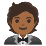 Person in Tuxedo: Medium-Dark Skin Tone on Google Android 11.0 December 2020 Feature Drop