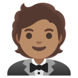 Person in Tuxedo: Medium Skin Tone on Google Android 11.0 December 2020 Feature Drop