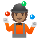 Person Juggling: Medium Skin Tone on Google Android 11.0 December 2020 Feature Drop