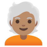Person: Medium Skin Tone, White Hair on Google Android 11.0 December 2020 Feature Drop