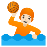 Person Playing Water Polo: Light Skin Tone on Google Android 11.0 December 2020 Feature Drop