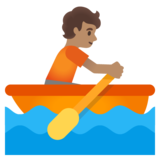 Person Rowing Boat: Medium Skin Tone on Google Android 11.0 December 2020 Feature Drop