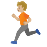 Person Running: Medium-Light Skin Tone on Google Android 11.0 December 2020 Feature Drop