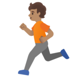 Person Running: Medium Skin Tone on Google Android 11.0 December 2020 Feature Drop