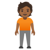 Person Standing: Medium-Dark Skin Tone on Google Android 11.0 December 2020 Feature Drop