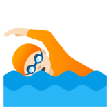 Person Swimming: Light Skin Tone on Google Android 11.0 December 2020 Feature Drop