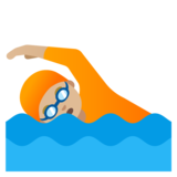 Person Swimming: Medium-Light Skin Tone on Google Android 11.0 December 2020 Feature Drop