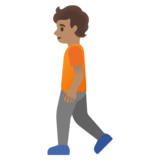 Person Walking: Medium Skin Tone on Google Android 11.0 December 2020 Feature Drop