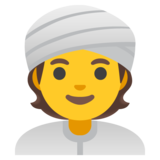 Person Wearing Turban on Google Android 11.0 December 2020 Feature Drop