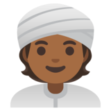 Person Wearing Turban: Medium-Dark Skin Tone on Google Android 11.0 December 2020 Feature Drop