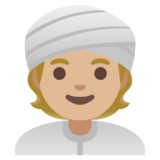 Person Wearing Turban: Medium-Light Skin Tone on Google Android 11.0 December 2020 Feature Drop