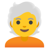 Person: White Hair on Google Android 11.0 December 2020 Feature Drop